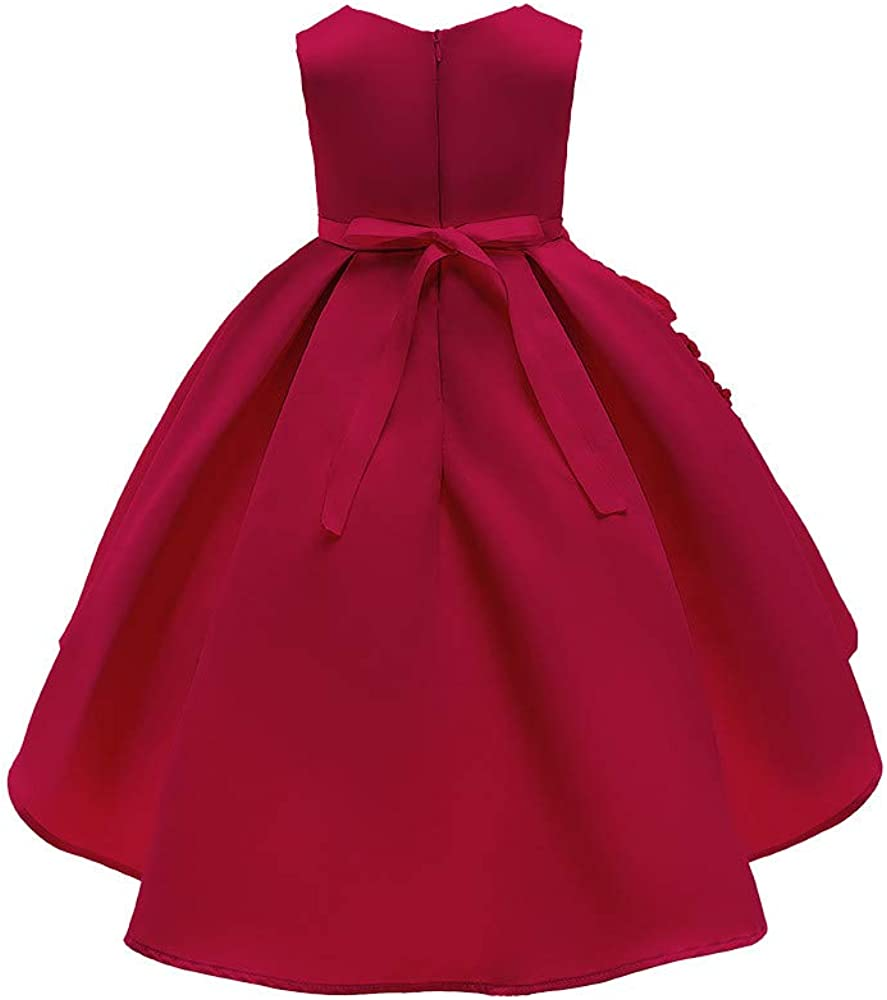 Lurryly❤Baby Girls Bridesmaid Dresses Gown Birthday Party Wedding Dress Kids Outfit 1-7T