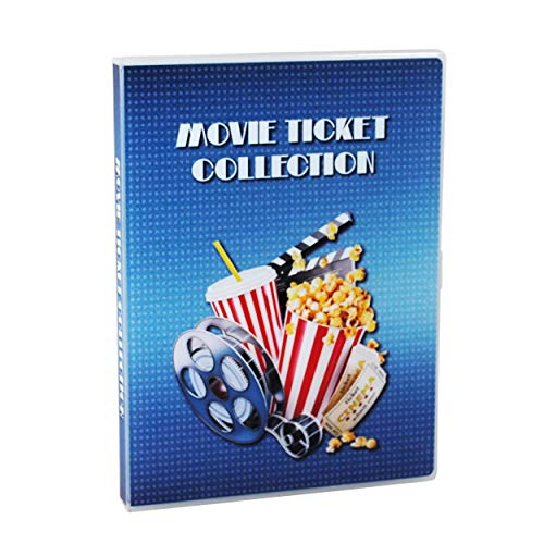 UniKeep Movie Ticket Collection Case with Acid-Free Pages and Integrated Binder Rings (Ticket Stub Album)