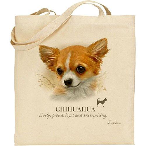 Howard Robinson Chihuahua Dog-Borsa in cotone, colore: naturale