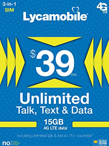 39 Unlimited International Plan product image