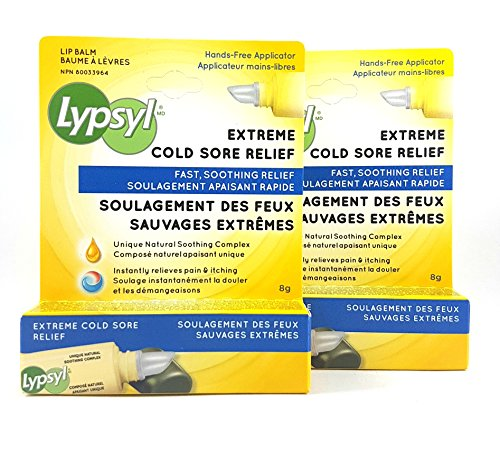 Lypsyl Extreme Cold Sore Relief 2 Tubes by Lypsyl