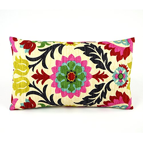 Chloe Amp Olive Cinco De Mayo Collection Cotton Floral Designer Decorative Throw Pillow Cover Reversible Fashion Rectangle Pillow Cover Colorful Red Lumbar 1 Accent Case For 12x20 Inch Insert Buy Online