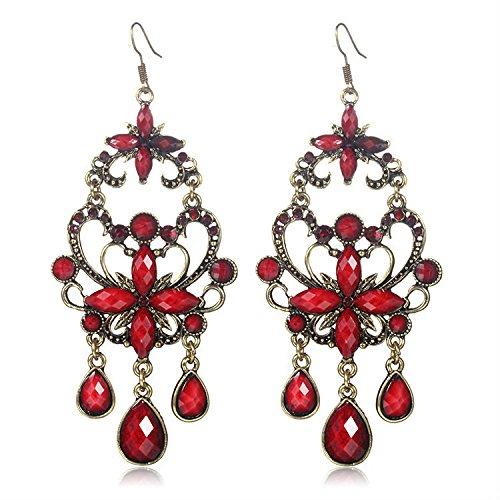 delatcha Big long red earrings for women large statement drop earring pendientes vintage brinco grandes 14 indian earings fashion EA13