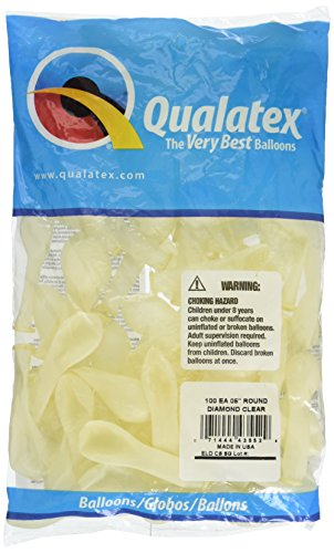 Qualatex Latex Balloons 43552 DIAMOND CLEAR, 5 Inch,]()