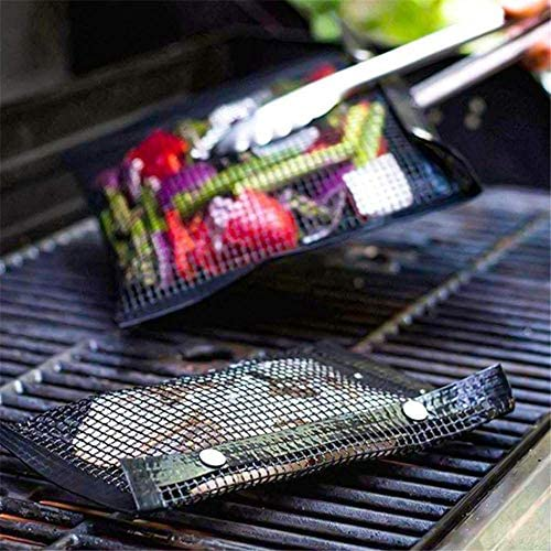 CYOYO BBQ Grill Mesh Bag Pack of 5, Anti-Stick Reusable Barbecue Bake Bags, Durable Outdoor Picnic Grilling Bags - Va Au Lave-Vaisselle