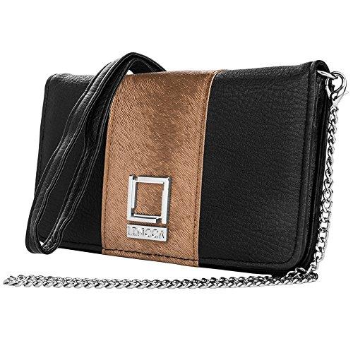 Black / Copper Vegan Leather Clutch for Galaxy by BestPriceCenter