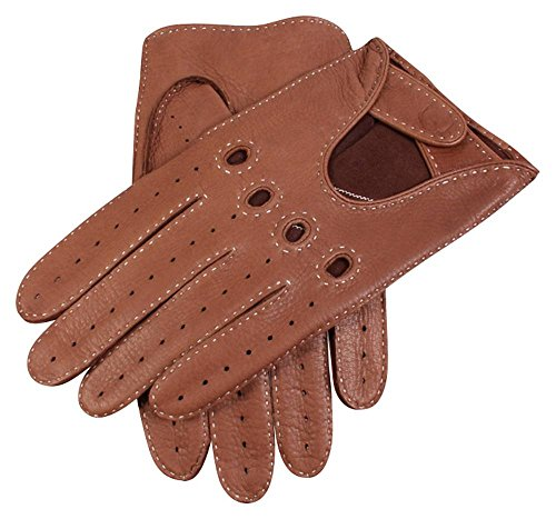 Dents Mens Winchester Deerskin Leather Driving Gloves - Havana Brown - Medium