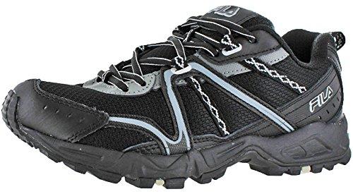 Fila Mens Salita 12 Trail Running Scarpa Nera / Castello Rock / Argento Metallizzato