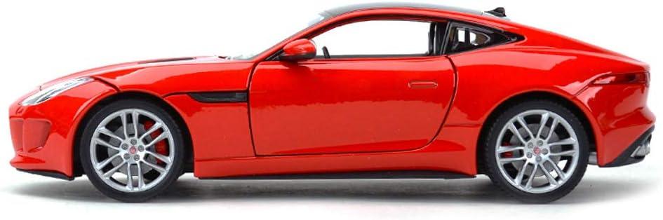 Color : Orange RENJUN Mod/èle de Voiture de Voiture 1:24 Jaguar F-Type de Voiture Simulation en Alliage Moulage sous Pression Jouet Ornements Collection de Voitures de Sport Bijoux 19x9x5.5CM