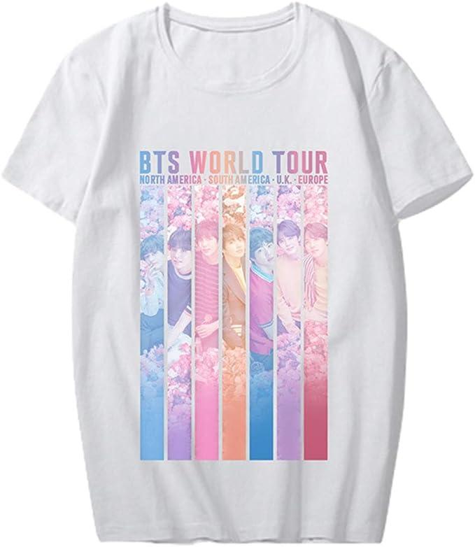 Xkpopfans Kpop BTS Love Yourself World World Tour Same T-Shirt Suga V Jin Jimin Tee Shirt