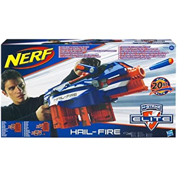 Amazon Com Nerf N Strike Elite Hail Fire Blaster