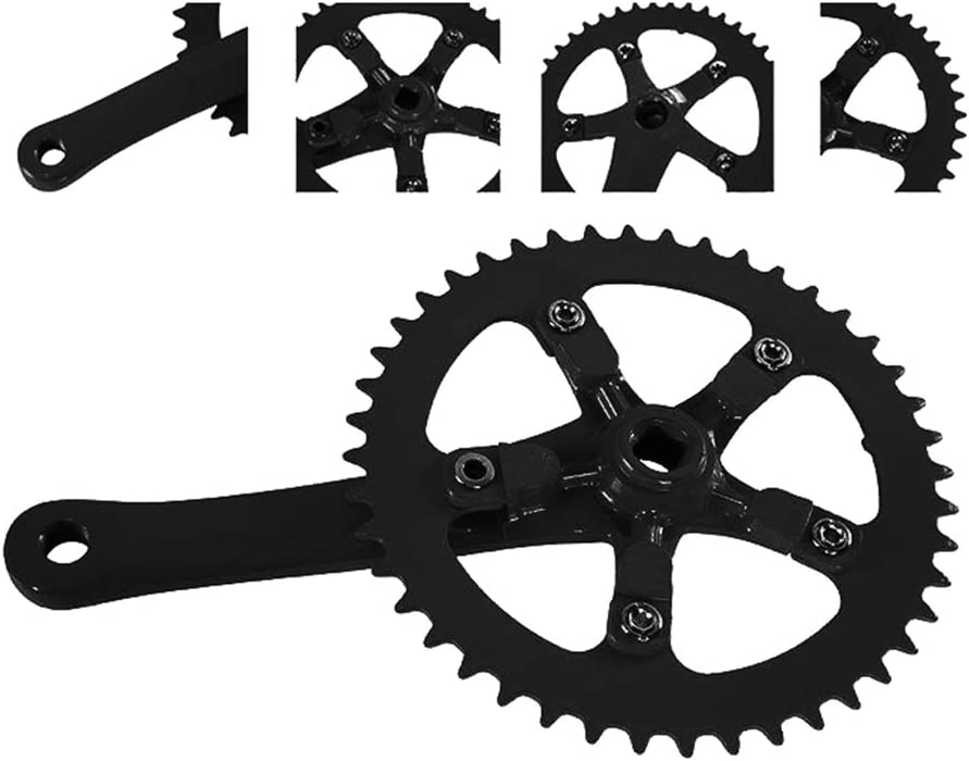 kaaka 44T Ultralight Aluminum Alloy Bicycle Crankset Chainring Chain Wheel for Fixed Gear Bike Folding Bicycle Cycling Maintenance Replacement Gear Part Accessory