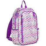 Eastsport Active Mesh Backpack with Padded Adjustable Straps, Spike Shevron/Grape Sizzle