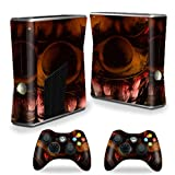 MightySkins Protective Vinyl Skin Decal Cover for Microsoft Xbox 360 S Slim + 2 Controller skins wrap sticker skins Wicked Clown Review