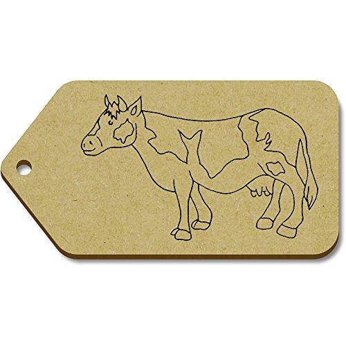 'mucca' Azeeda Big tg00068980 regalo 51mm bagaglio 10 X 99mm Tag qOw1UO