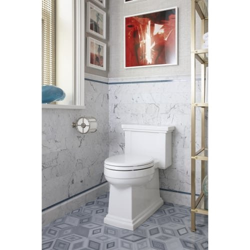 KOHLER K-3981-96 Tresham Comfort Height Skirted One-Piece Compact Elongated Toilet with Aquapiston Flush Technology and Left-Hand Trip Lever, Biscuit by Kohler (Image #1)