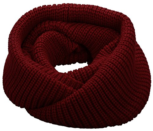 NEOSAN Womens Thick Ribbed Knit Winter Infinity Circle Loop Scarf ()