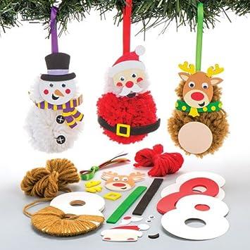 Bastelsets Für Pompon Anhänger Weihnachten Für Kinder Zum Basteln