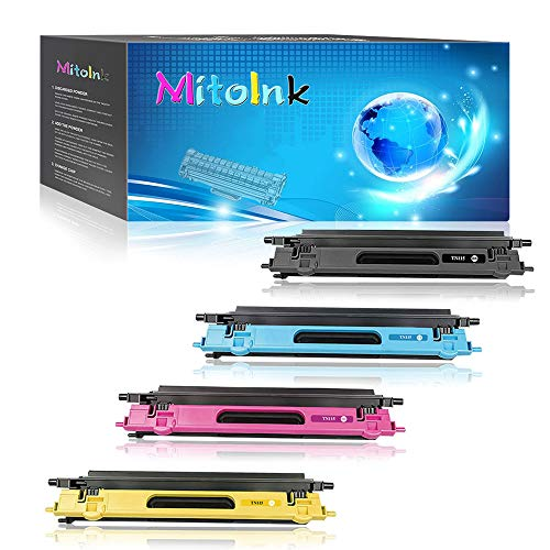 (Mitoink TN115/TN110 Toner Replacement for Brother Printer MFC-9440CN, MFC-9450CDN, MFC-9840CDW, MFC-9842CDN, MFC-9870CDW, MFC-9940CDN, Toner Cartridge, 4 Pack (1 Black, 1 Cyan, 1 Magenta, 1 Yellow))