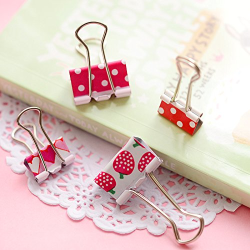Nice 25mm Mini Cute Kawaii Metal Holder Paper Clips Office Accessories Clip Binder Paperclip Clamps