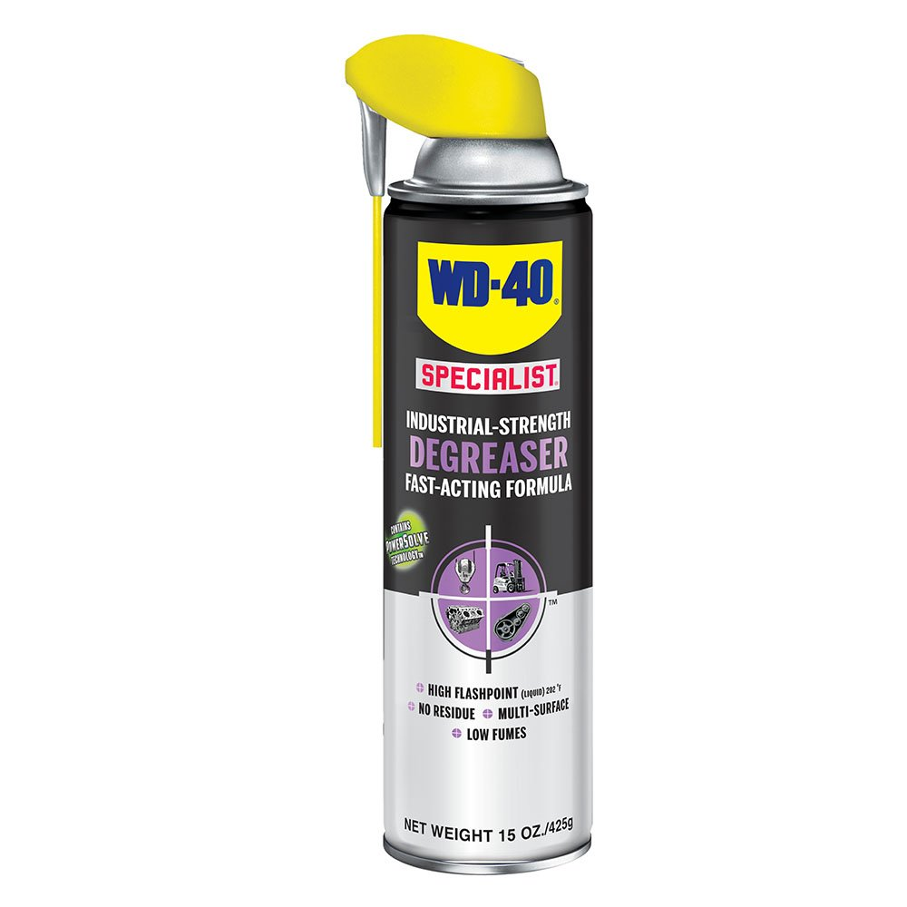 WD-40 Specialist Industrial Strength Degreaser Fast-Acting Formula with PowerSolve Technology and SMART STRAWSPRAYS 2 WAYS, 15 OZ [6-Pack]