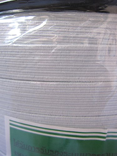 Venus Elastic White Tape Braid Band 14 Cord 144 Yard length Factory Grade roll (Yard 144 Roll)
