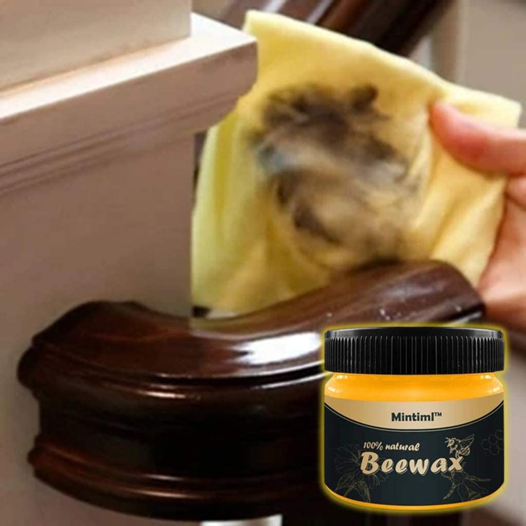100g Beeswax Furniture Polish,CHUNKUNA Wood Seasoning Beewax Complete Solution Furniture Care Beeswax /&Multipurpose Natural Beeswax