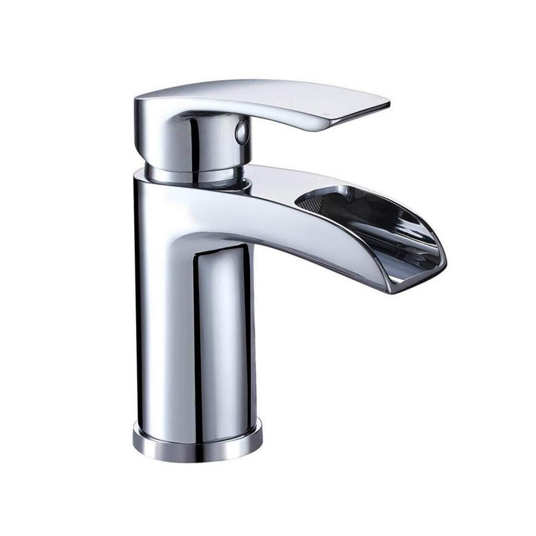 Hochwertiger Überzugswasser-Badezimmer-Becken-fester heißer Messingmischer- Hahn