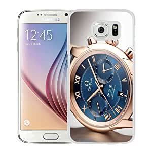 NEW Unique Custom Designed Samsung Galaxy S6 Phone Case With Omega De Ville Swiss Gold Watch_White Phone Case