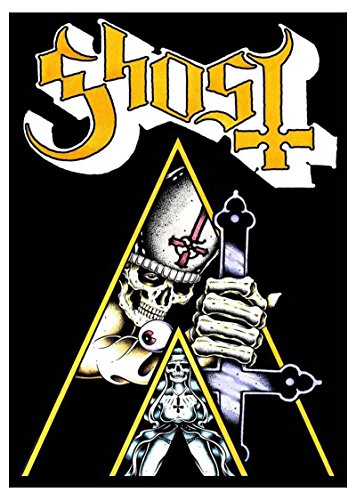 Ghost Poster Clockwork Ghost Logo Official Black Textile Flag