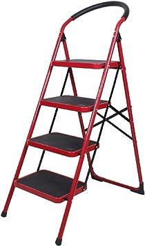 Escaleras Escalera plegable de acero de 4 pasos, Escalera de tijera portátil, Escalera telescópica, Escalera de extensión, Oficina de usos múltiples Escalera de tijera de jardín for el hogar, Hogar, P: Amazon.es: