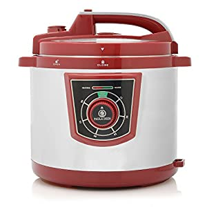 Paula Deen 1300W 8qt Pressure Cooker Merlot