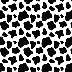Cow print black white multi pack printed for Vinyl sheets for crafts