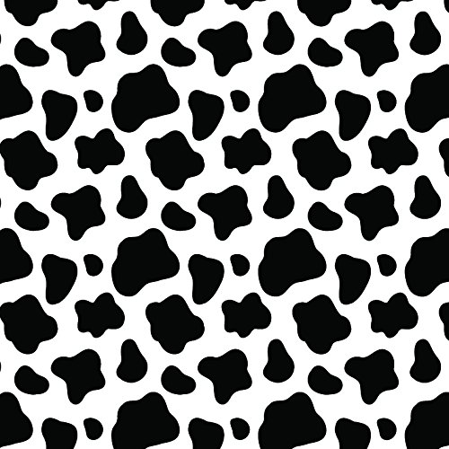 Cow Print Black & White Multi-Pack Printed Craft Vinyl 3 Sheets 12x12 for Vinyl Cutters]()