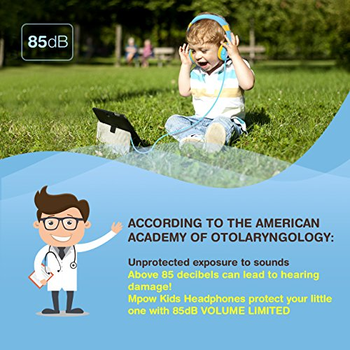 a8c9754e1b6 Mpow Kids Headphones with 85dB Volume Limited Hearing Protection & Music  Sharing Function, Kids Friendly