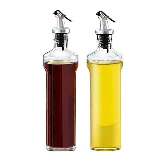 Compra Botella dispensadora de aceite de oliva y vinagre de vidrio ...