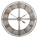 Hunter Garden Crafts Decorative Metal Wall Clock 23'' (Silver)