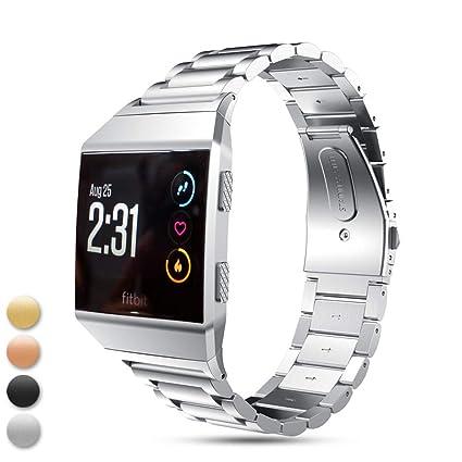 Correa de Repuesto para Fitbit Ionic, Feskio de Acero Inoxidable y Metal, Correa de muñeca, Reloj Deportivo para Fitbit Ionic Smartwatch
