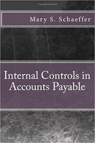 Book Internal Controls in Accounts Payable by Mary S. Schaeffer (26-Mar-2014)