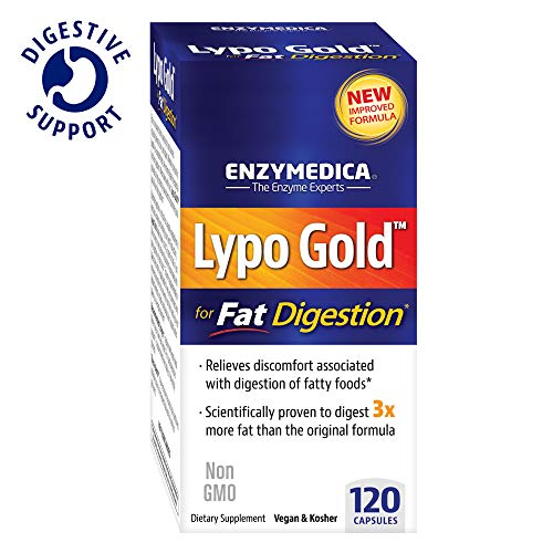 Enzymedica, Lypo Gold, Keto Supplement to Support Fat Digestion, Vegan, Gluten Free, Non-GMO, 120 Capsules (120 Servings) (FFP)