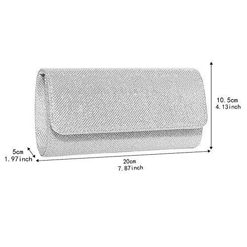 Evening Bag Clutch Purses for Women,iSbaby Ladies Sparkling Glitter Party Handbag Wedding Bag with Chain by iSbaby (Image #3)