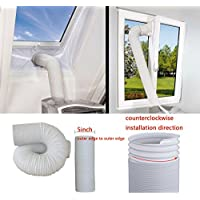 JOYOOO 79 Inch Long 5 Inch Diameter Intake/Exhaust Hose PVC Flexible Ducting for Portable Air Conditioner Replacement hose/Extend Vent Hose/counterclockwise installation direction