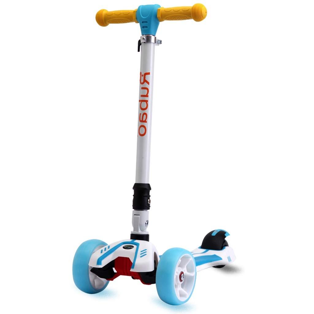 【期間限定送料無料】 ライト級選手4の車輪の傾きそしてLEDが付いている折る蹴りのスクーターは男の子/女の子/子供 :/子供のための車輪T棒ボビボードをつけます - 年齢2-15 (色 年齢2-15 : Sky Sky blue) Sky blue B07PTQQYND, 阿久根市:6cd5798d --- senas.4x4.lt