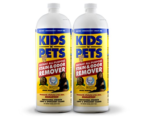 KIDS 'N' PETS Instant All-purpose Stain & Odor Remover – 27.05 oz. (800 ml) - Pack of 2 | Proprietary Formula Permanently Eliminates Tough Stains & Odors – Even Urine (Pet Odor Stain Removal)