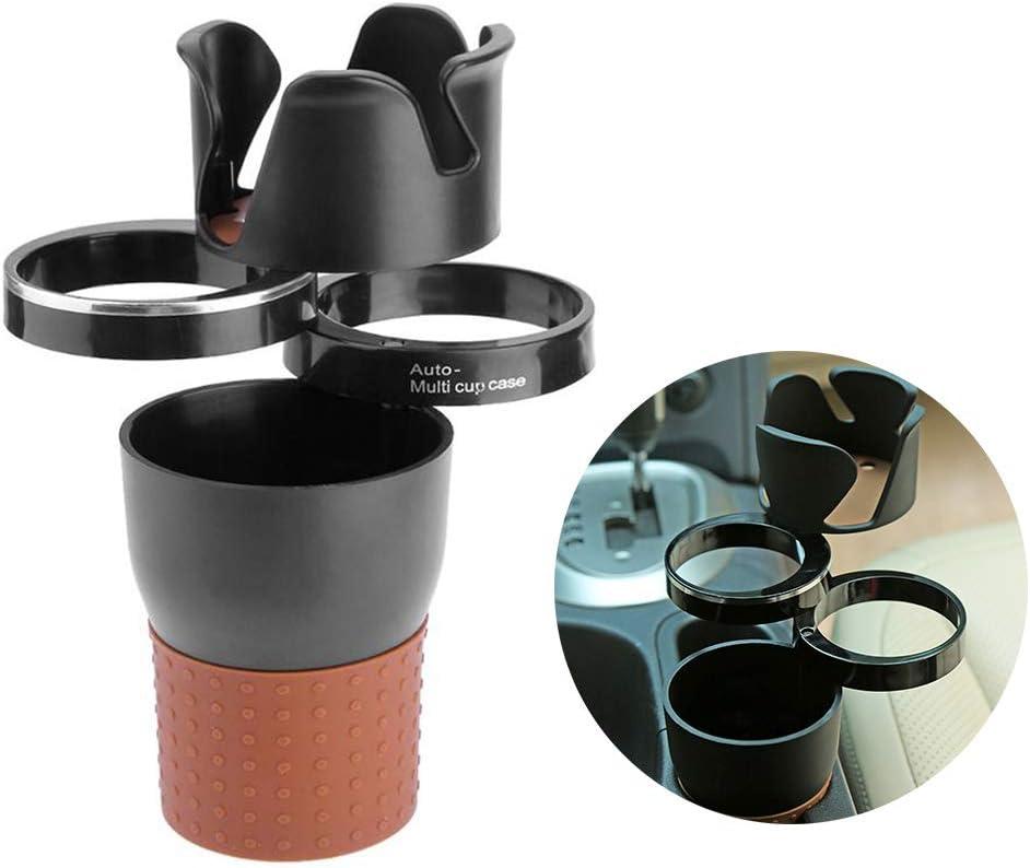Jackallo Organizador Extensor de Montaje de Taza Doble para veh/ículos Universal Soporte para Bebidas para Vasos de Agua montado en el veh/ículo Portavasos Multifuncional para Coche 4 en 1