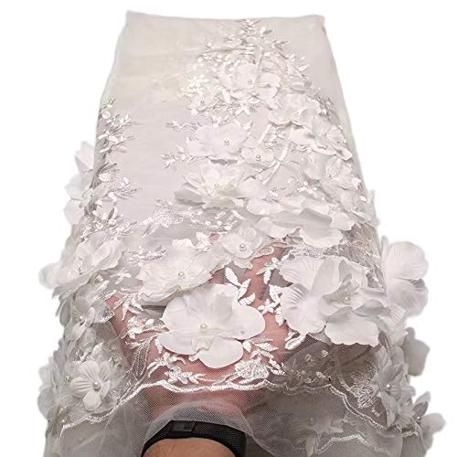 Laliva French Nigerian Laces Fabrics Tulle African Laces Fabric Wedding African French Tulle Lace - (Color: 2)