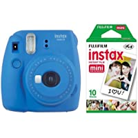 instax mini 9 Makine+10'lu Film+Askı (koyu mavi)
