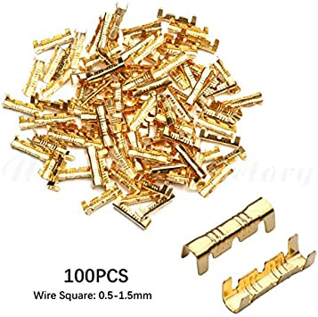 Color : Silver 0.5 1.5mm2 DFYYQ 100Pcs//Set U-Type Docking Connector Line Pressing Button Quick 0.5 to1.5 mm2//2-2.5mm2 Connect Terminal Wiring