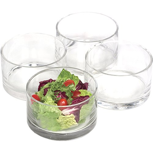 Artland Unisex Simplicity Cylinder Nappy Bowl Set Clear (Bowl Glass Cylinder)