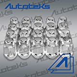 5 lug chevy truck wheels - 20 Pc Chrome Bulge Acorn 14x1.5 Steel Wheel Lug Nuts for 5 Lug Chevy GMC Dodge Ram Truck | 1.4